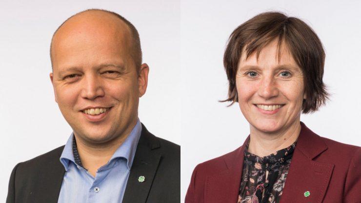 Trygve Slagsvold Vedum og Kjersti Toppe: Foto Stortinget.